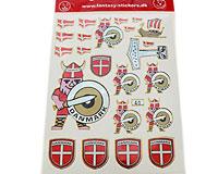 Se mere om Klistermærker med danske flag i web-butikken