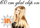 60 cm glat clip on hair extension